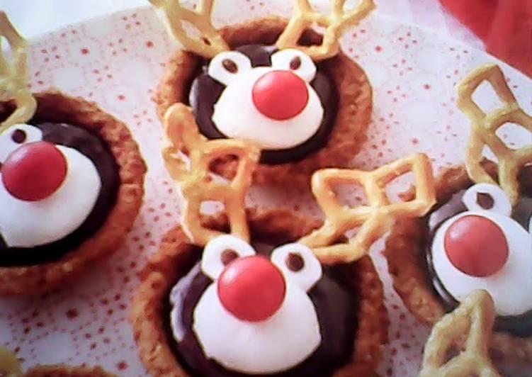 Butternut Snap Rudolph Chocolate tartlets