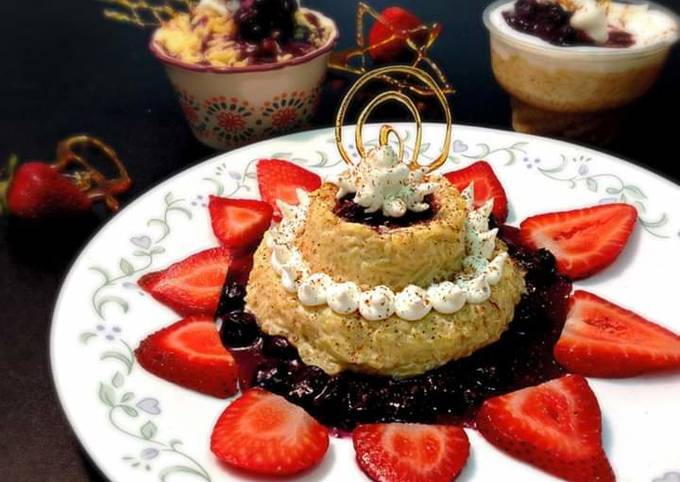 Rice Pudding with Blueberry Compote