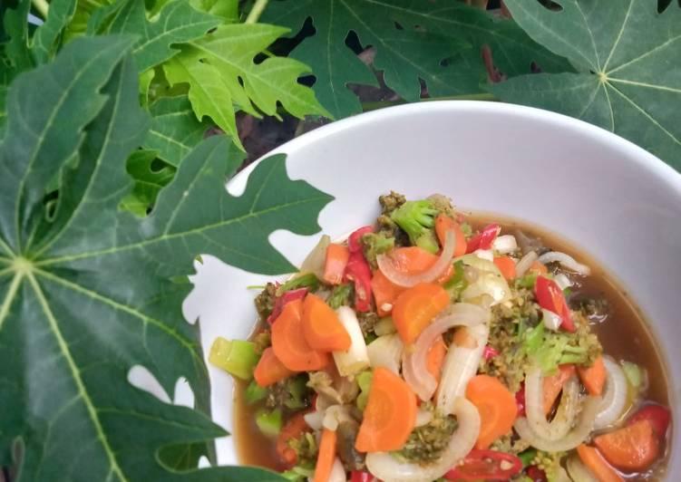 Brokoli Wortel Tumis Teriyaki (Menu Diet)