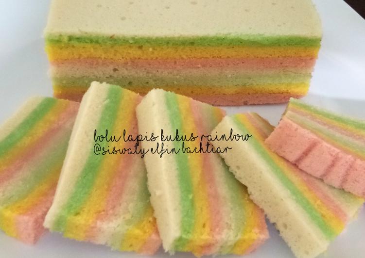 Bolu lapis kukus rainbow