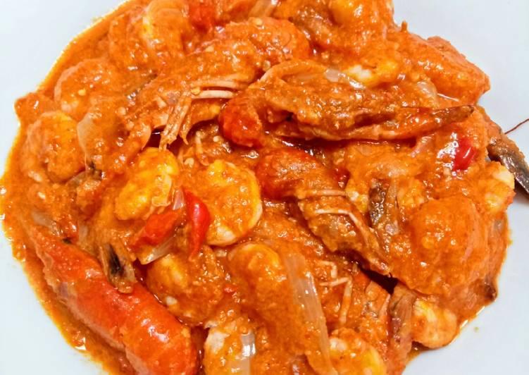 Udang + Mini Lobster Saus Padang