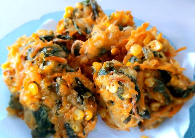 Bakwan Jagung Sayur Crispy (isi Bayam Wortel Tauge) Gorengan
