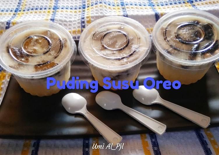 Puding Susu Oreo