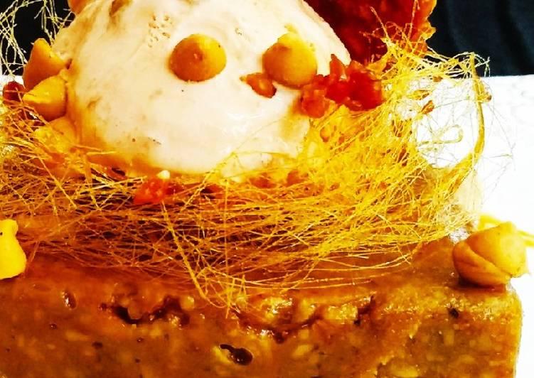 Simple Way to Make Perfect Hazelnut Brownie with Hazelnut praline and Icecream
