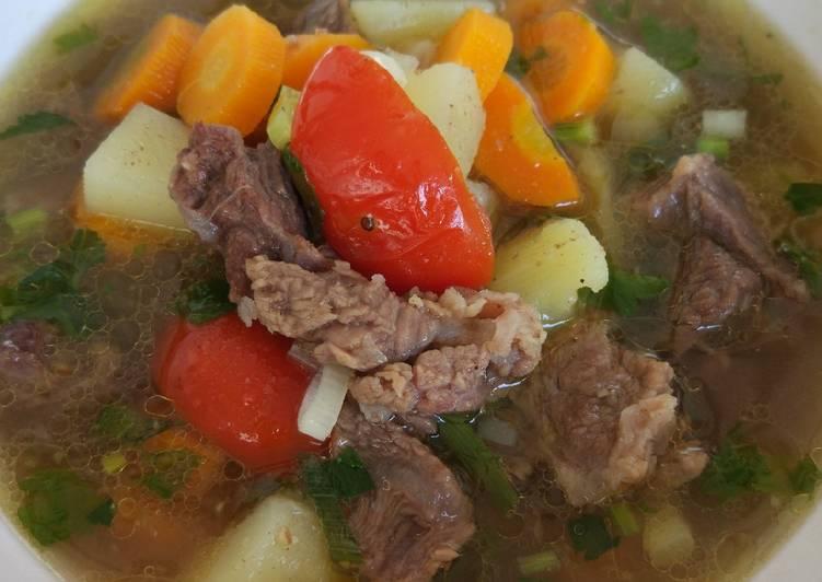 Cara Membuat Sop Daging Sapi Empuk Super Enak