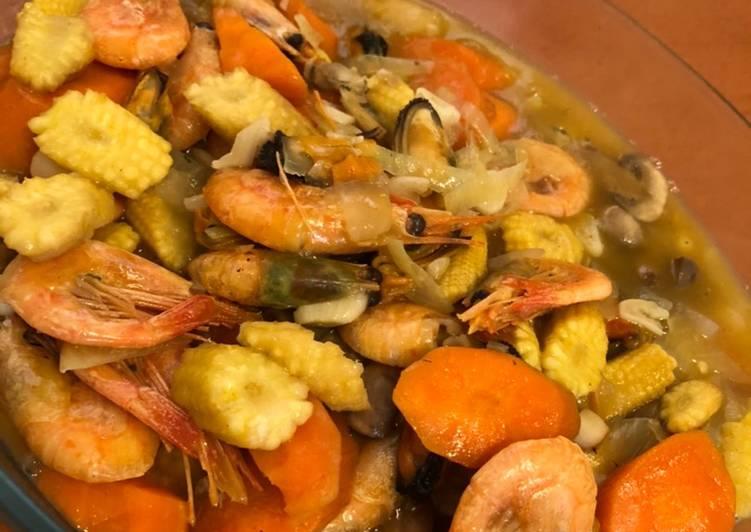 Capcay seafood kuah kental