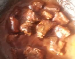 Costillas con salsa de arándano picosa
