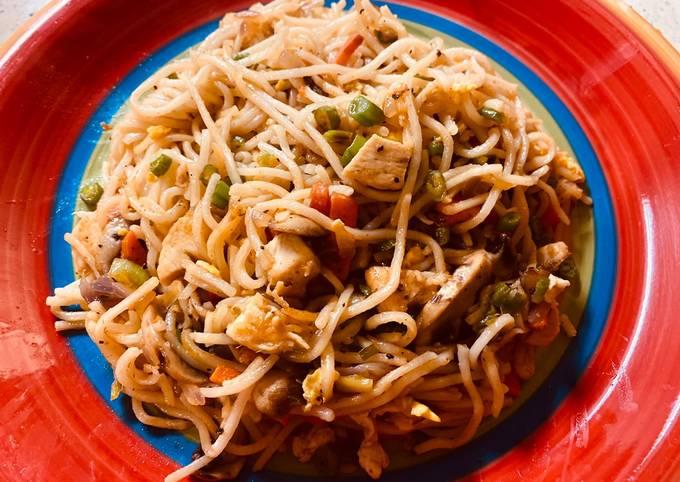 Easy hakka noodles