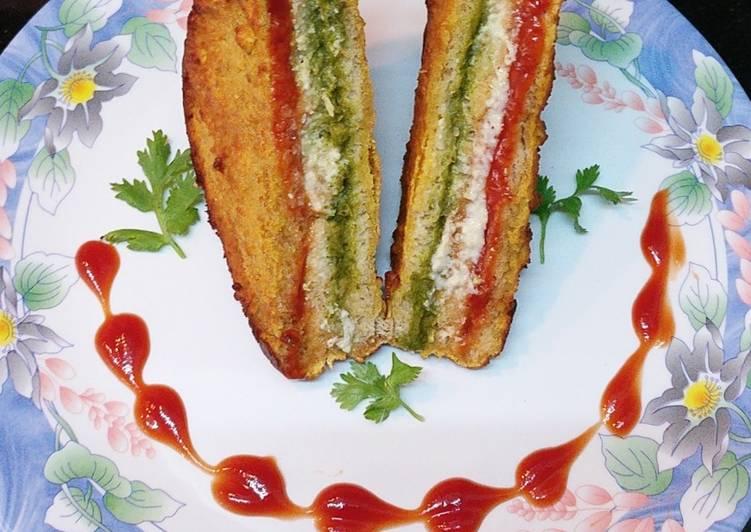 Steps to Make Super Quick Homemade Three Layer Sandwich Bread Pakoda