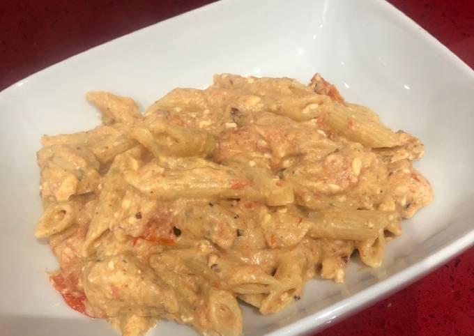 Chicken Feta Pasta #TikTok Inspo