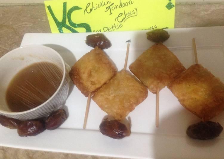 Chicken tandori cheesy Pettie with imli and khajoor chutney - Laurie G Edwards