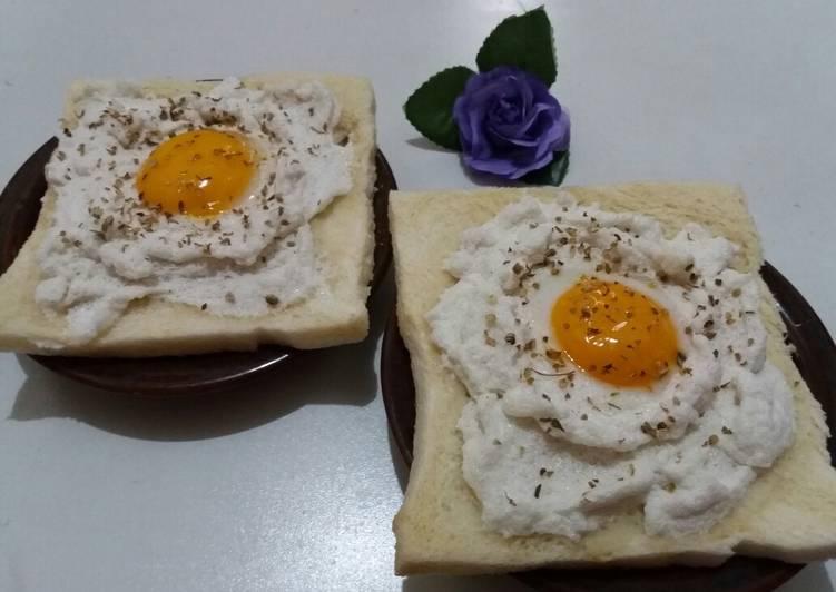 Resep Cloud egg sandwich ala mella soeboeh Bikin Jadi Laper
