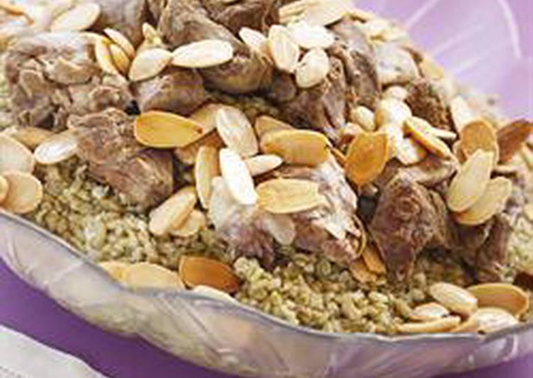 Green wheat grains with lamb - freeket ghanam