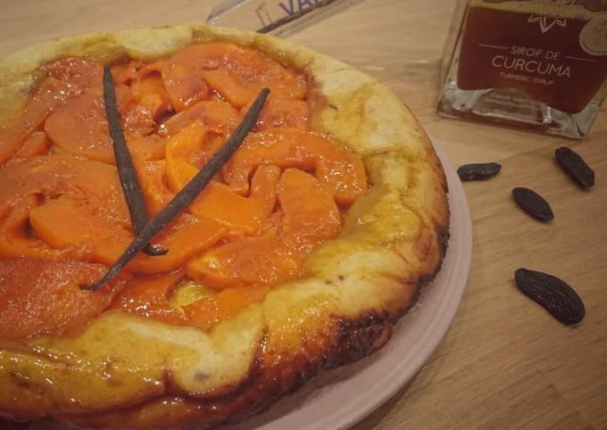 TARTE TATIN À LA Butternut, SIROP DE CURCUMA, VANILLE et tonka
