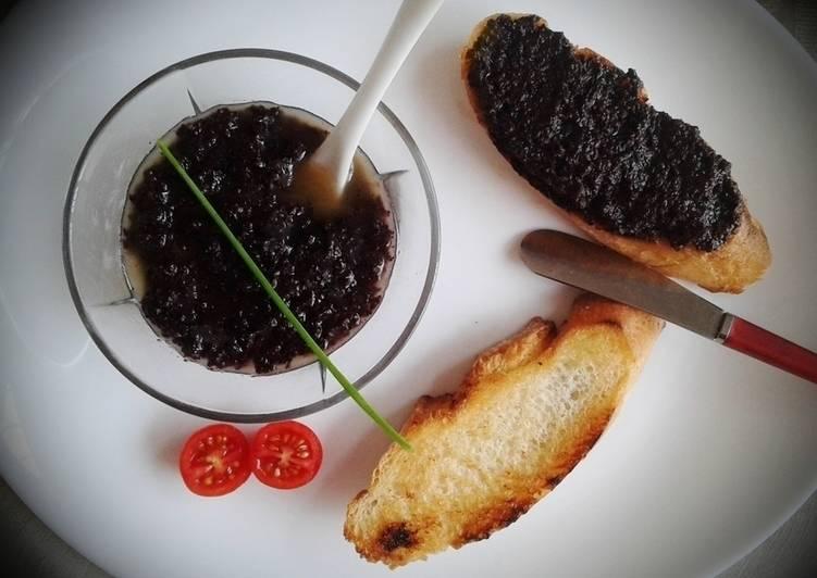 Tapenade de aceitunas negras