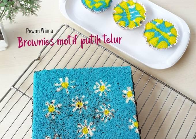 295. Brownies Motif Putih Telur