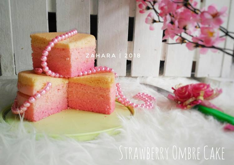 Steamed Strawberry Ombre Cake (Gluten Free) #maree