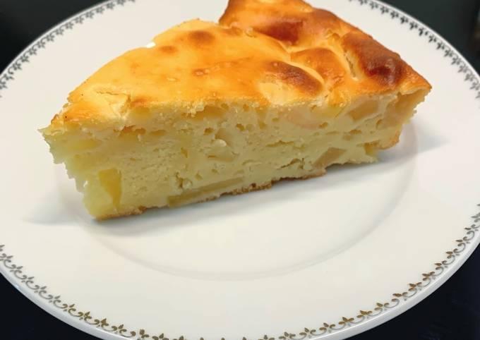Gâteau moelleux au fromage blanc & pommes