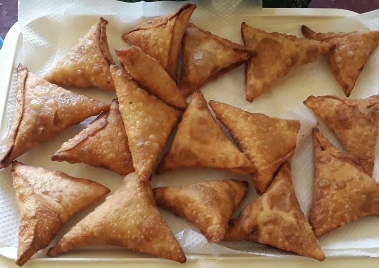 15 Minute Recipe of Autumn Spicy Minced meat Sambusa aka Samosas #authormaraton#