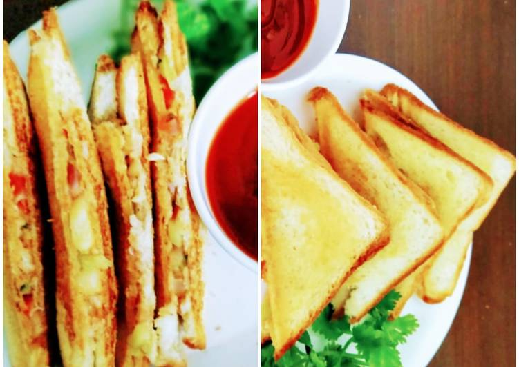 Salad toast sandwich