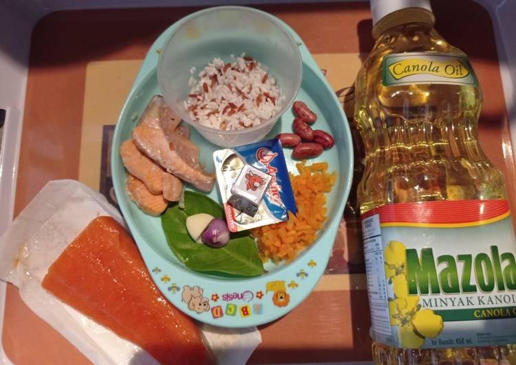 Bubur Salmon Kacang Merah 6+