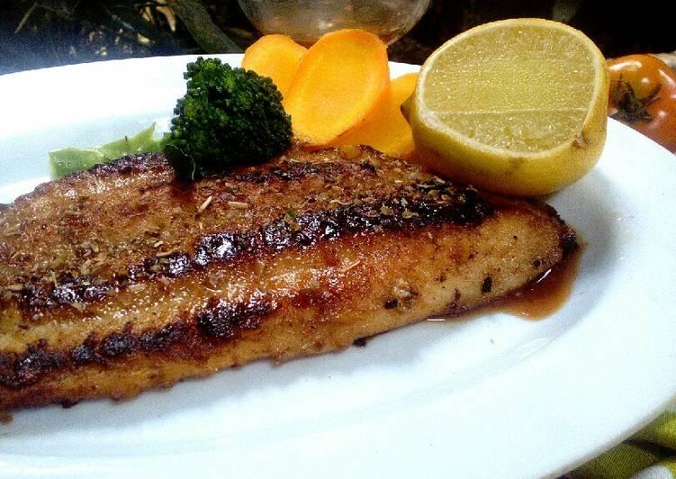 Ikan dori panggang madu