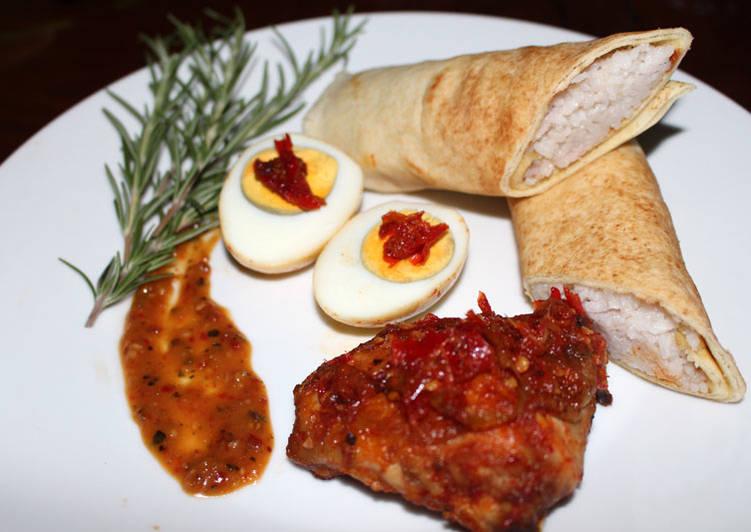 Panduan Menyiapkan Ayam Bakar Bumbu Sambal Terasi dan Nasi Rempah Tortilla Super Lezat