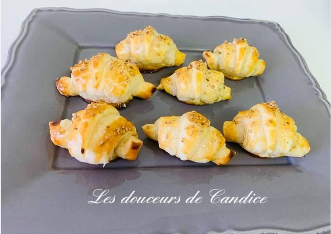 Croissants au saumon