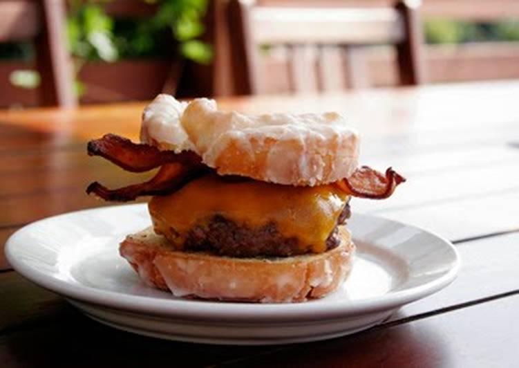 Bacon Doughnut Cheeseburger
