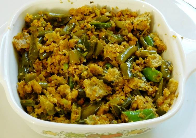 Recipe of Any-night-of-the-week Beans Paruppu Usili