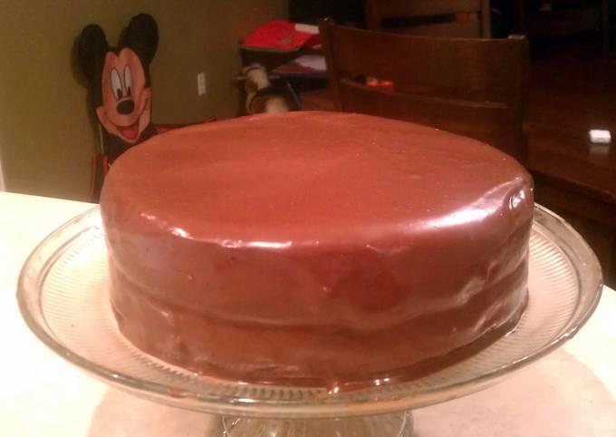 Recipe: Delicious triple chocolate cheese cake