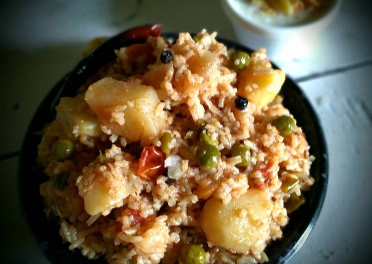 Easiest Way to Prepare Perfect Potato Peas Pulao