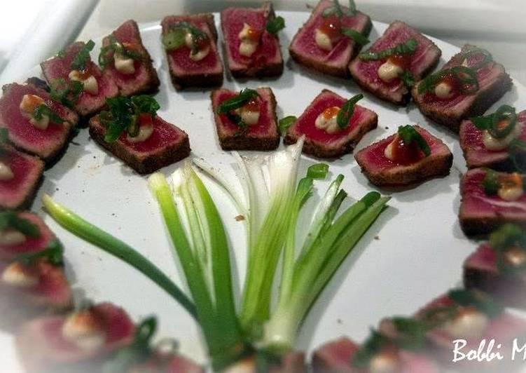 Easiest Way to Prepare Delicious Seared Cajun Ahi Tuna