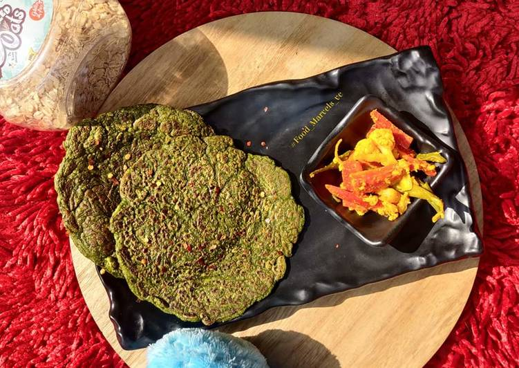 Spinach and Oats Savoury Pancakes