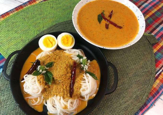🧑🏽🍳🧑🏼🍳Southern Thai Dishes•Thai Fish Curry • Nam Ya Ka-Ti •How to make Thai Curry Paste