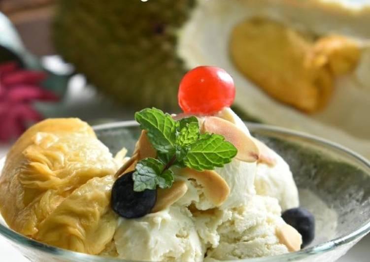 Aiskrim Durian Special - resepipouler.com