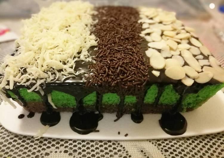 Brownies Kukus Coklat Pandan #pr_browniesdcc