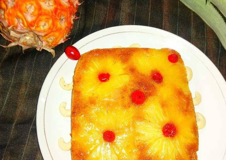 #Pineapple Upside Down Cake-Eggless