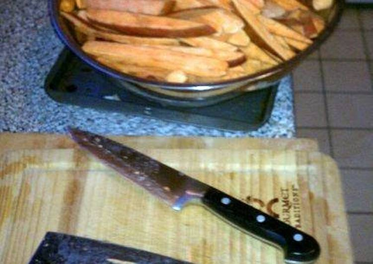 Steps to Prepare Ultimate Cumbersome Sweet Potato Fries