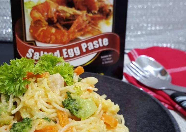 Salted Egg Spaghetti - velavinkabakery.com