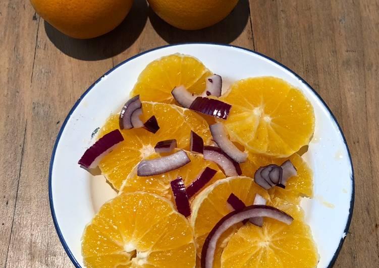 Comment Préparer Des Salade orange salée