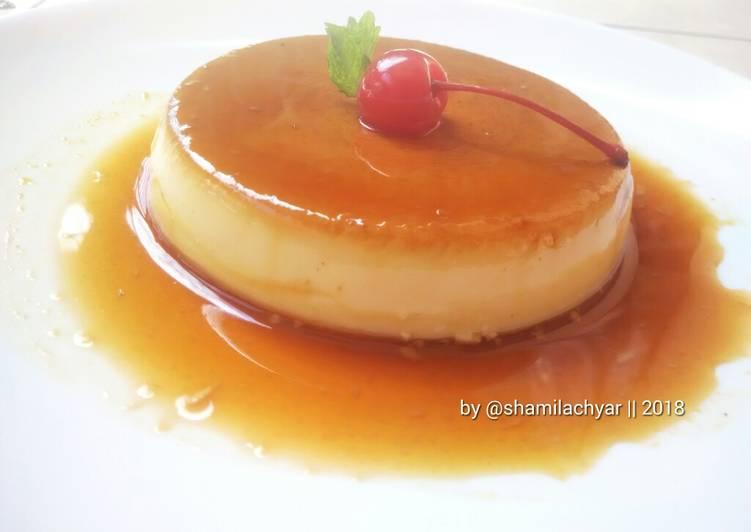 Fluffy Custard Pudding Caramel #BikinRamadhanBerkesan #day3