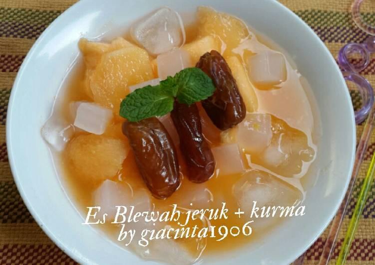 Es Blewah jeruk + kurma