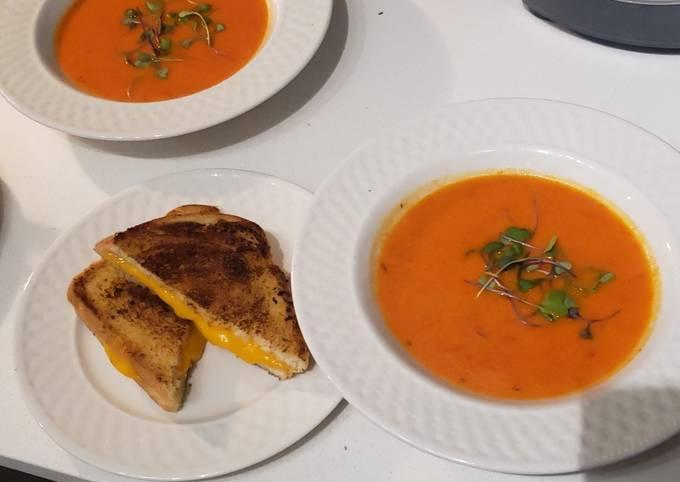 Charred Fresno Tomato Soup