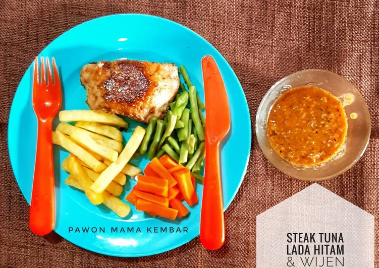 Steak Tuna Lada Hitam & Wijen