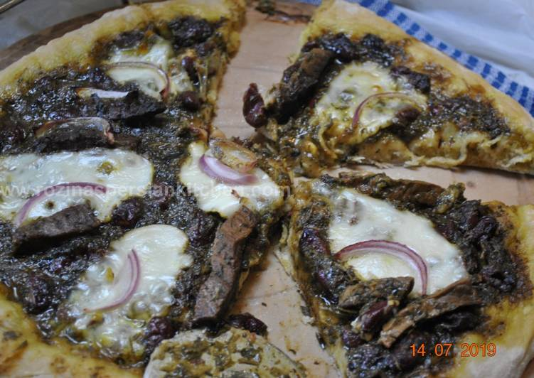 Recipe of Ultimate Pizza Ghormeh Sabzi