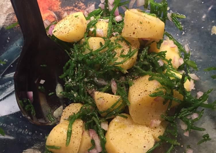 Salade de pommes de terre au Salicorne