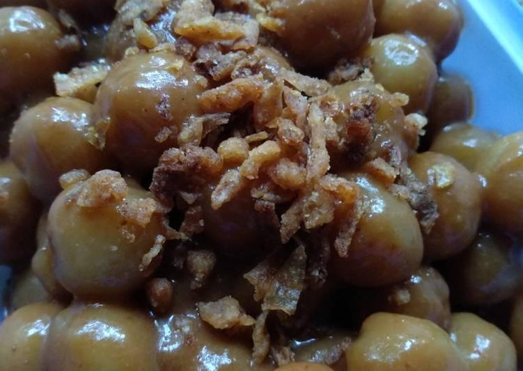 Cilok bumbu kacang simple