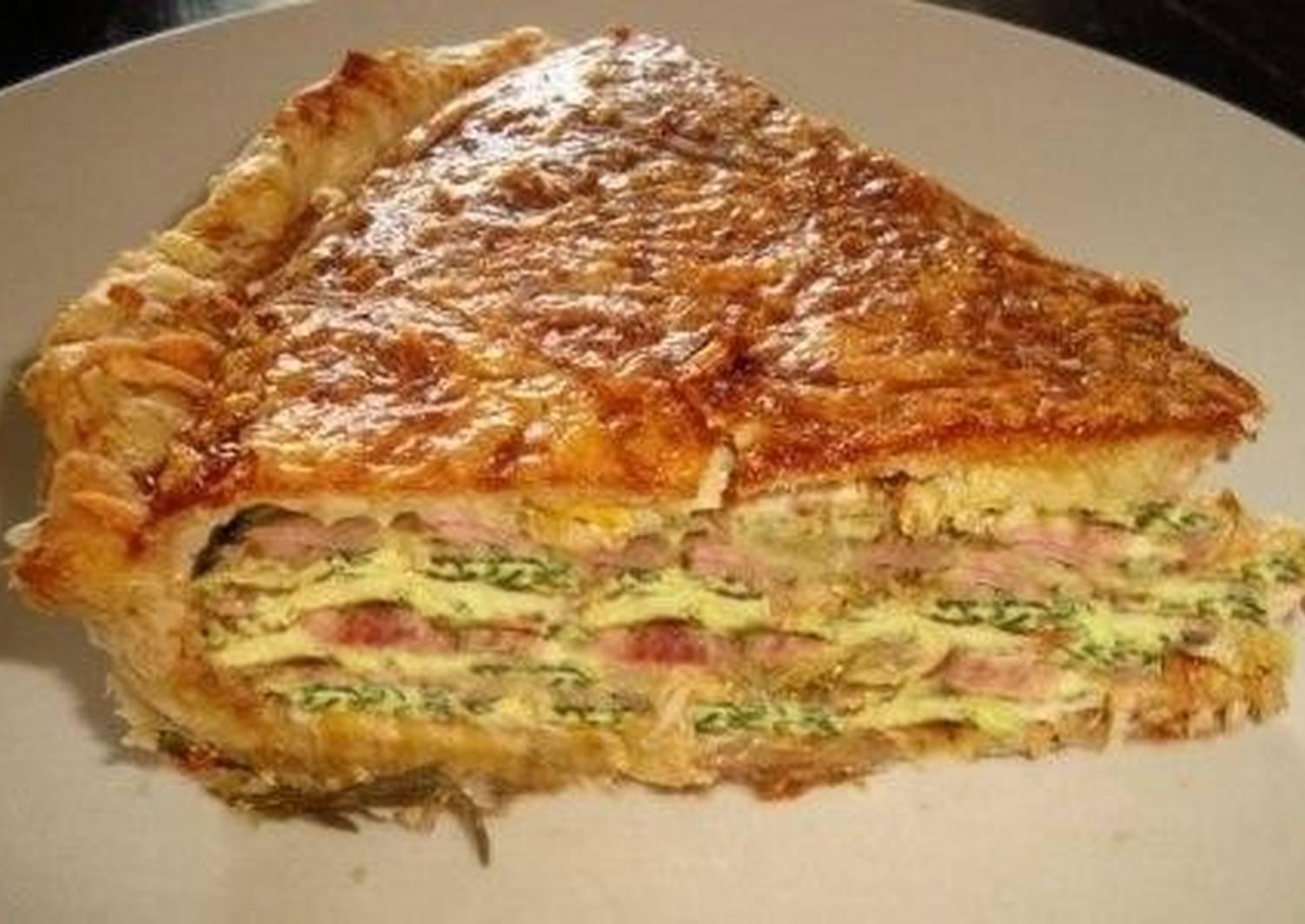 Слоеный пирог галета рецепт с фото