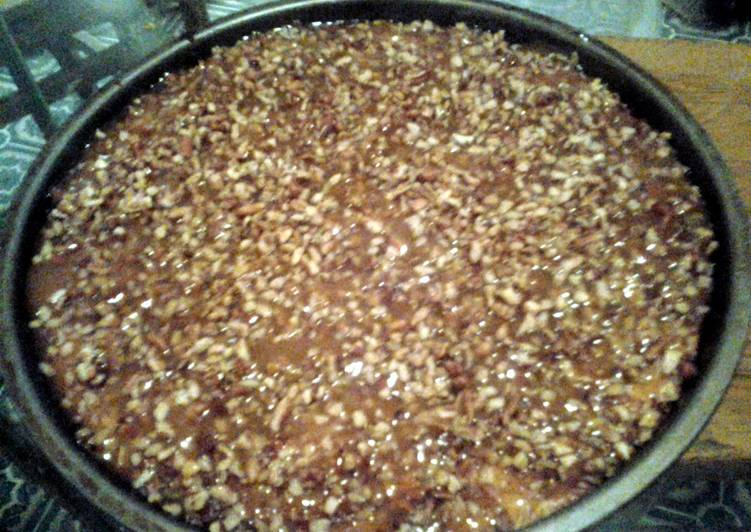 Easiest Way to Prepare Any-night-of-the-week carmel pecan cheesecake :)